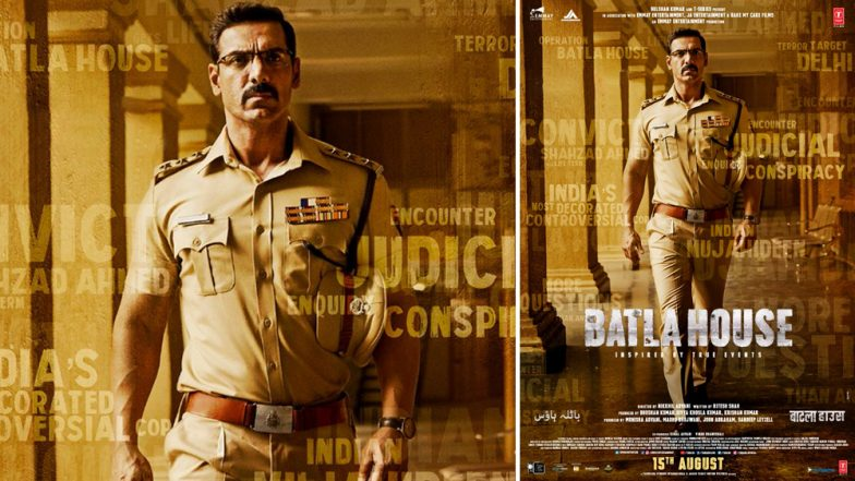 Batla House Poster: John Abraham All Set to Portray as One of the Most Decorated Cops of India