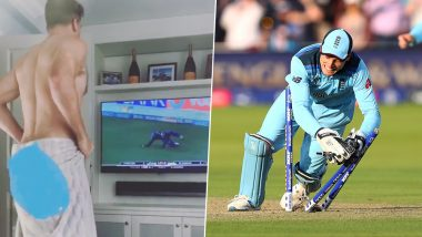 Jos Buttler's Naked Towel Dance Video From a Hotel Room After IPL 2017 Final Run Out Goes Viral After He Was Involved in Similar Incident During ENG vs NZ 2019 WC Final Ball Win