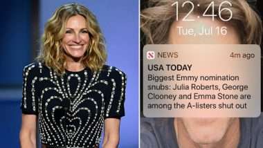 Julia Roberts Has a Funny Take on Her Emmy Snub, Says 'I'm in Exceptional Company at Least'