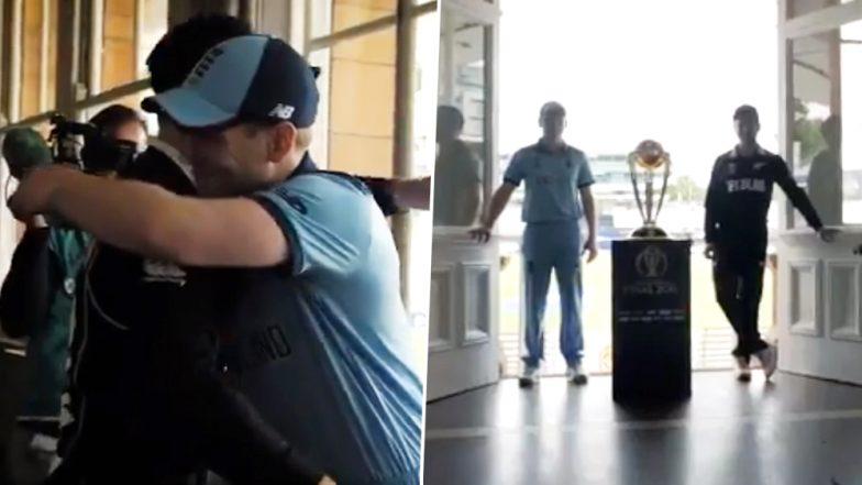 Kane Williamson, Eoin Morgan Hug Each Other Ahead of NZ vs ENG CWC 2019 Final Match, Watch Video