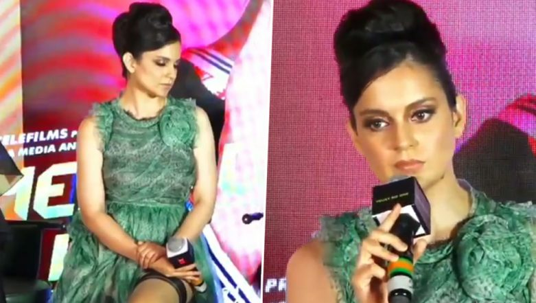 Kangana Ranaut Gets into a Heated Argument With a Journalist at Judgemental Hai Kya Song Launch - Watch Viral Video