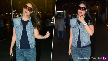 Kareena Kapoor Khan Rules When It Comes to Airport Fashion! Checkout Bebo's Denim on Denim Look, It's Fabulous (View Pics)