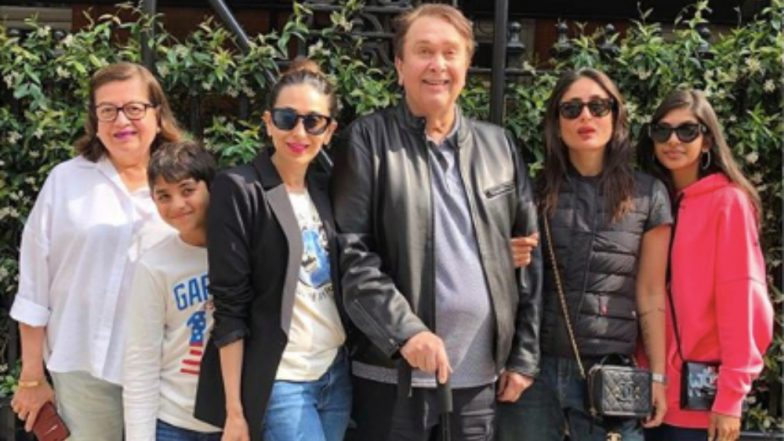 Sisters Kareena Kapoor Khan and Karisma Kapoor Pose for a Perfect Family Picture With Parents Babita and Randhir Kapoor in London - View Pic