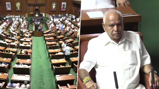 BS Yediyurappa Wins Trust Vote in Karnataka Vidhana Soudha Through Voice Vote