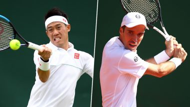 Kei Nishikori vs Mikhail Kukushkin, Wimbledon 2019 Live Streaming & Match Time in IST: Get Telecast & Free Online Stream Details of Round of 16 Tennis Match in India