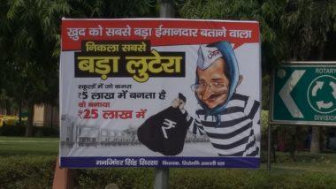 'Kejriwal Is Thief' Posters Pop Up in Delhi; Akali Dal MLA Manjinder Singh Sirsa Accuses AAP Chief of Corruption