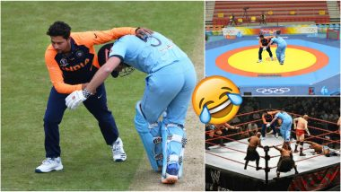 Kuldeep Yadav and Jonny Bairstow's Awkward Collision Sparks Funny Memes! See Hilarious Moment From IND vs ENG World Cup 2019 Match