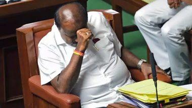 HD Kumaraswamy Loses Karnataka Trust Vote After Making Emotional Speech in Vidhana Soudha, JDS-Congress Govt Falls As 105 MLAs Vote Against Motion