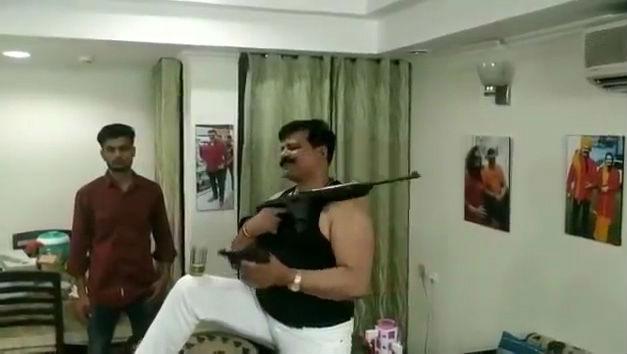 BJP MLA Kunwar Pranav Singh Champion Caught Brandishing Gun in Viral Video Expelled From Party for 6 Years