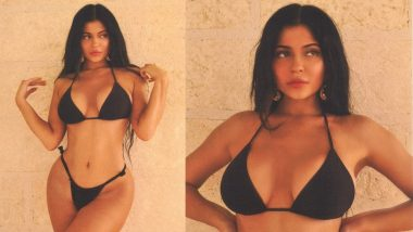 Kylie Jenner Flaunts Her Voluptuous Curves In A Black Bikini And We're Going Hubba Hubba Over It! View Pics