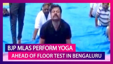 Karnataka BJP Lawmakers Perform Yoga Ahead of Floor Test