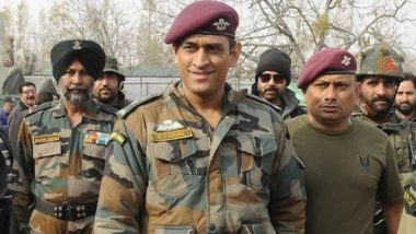 MS Dhoni Joins 106 Territorial Army Battalion in Kashmir Valley, Training to Continue Till August 15