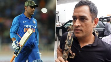 MS Dhoni Departs for Srinagar to Join 106 Territorial Army Battalion, the Indian Cricketer Spotted at Delhi's IGI Airport (See Photo)