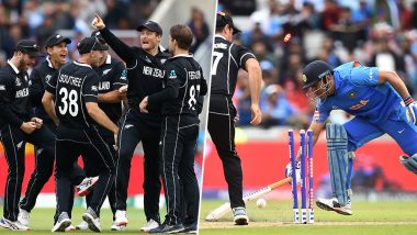 MS Dhoni Run-Out Video: Watch Martin Guptill Direct Hit Throw to Dismiss MSD and Send New Zealand to CWC 2019 Final