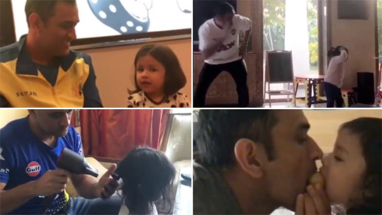 MS Dhoni Birthday Special! Five Cute Videos Which Show the Adorable Father-Daughter Relationship of Mahi and Ziva