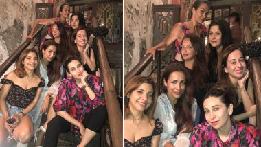 Malaika Arora Shares Pics From Her All-Girls Party But Why Are Karisma Kapoor and Amrita Arora Twinning in the Exact Same Print??