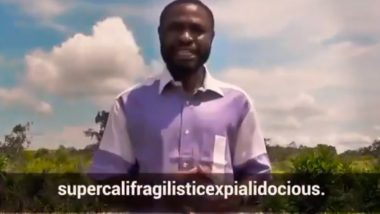 Video of Man Using Toughest Words From English Dictionary During 2018 Cameroon Elections Go Viral And Internet Wonders if he is Shashi Tharoor's Teacher