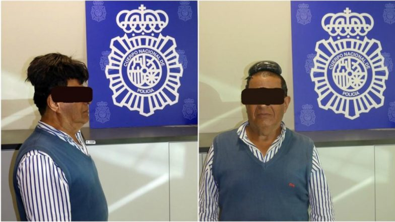 Man Arrested For Trying to Smuggle Cocaine Worth USD 34,000 Under His Wig at Barcelona Airport (See Pictures)