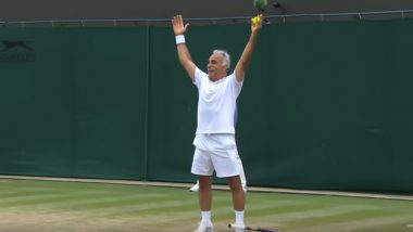 Wimbledon 2019: Iranian-French 63-Year-Old Mansour Bahrami's Underarm Serve Prompts Grand Slam to Ask Nick Kyrgios' Thoughts, Watch Video