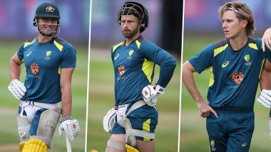 Marcus Stoinis, Matthew Wade and Adam Zampa Are Perfect Posers And This Photo Shared by Cricket World Cup Ahead of AUS v ENG CWC 2019 Semi-Final Match Is Proof!