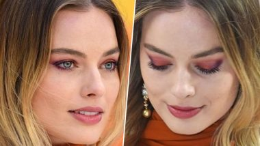 How to Get Margot Robbie-Inspired Sunset Eyeshadow Look? Here's Step-by-Step Makeup Tutorial to Rock This Beauty Trend