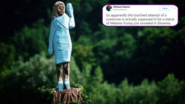 Melania Trump Statue in Slovenian Hometown Gets Trolled! US First Lady's Public Statue Called a Scarecrow by Netizens