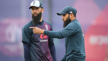Why Moeen Ali and Adil Rashid Walked Off the Podium to Avoid Champagne Celebration With Team After England Defeated New Zealand in CWC 2019 Final (Watch Video)