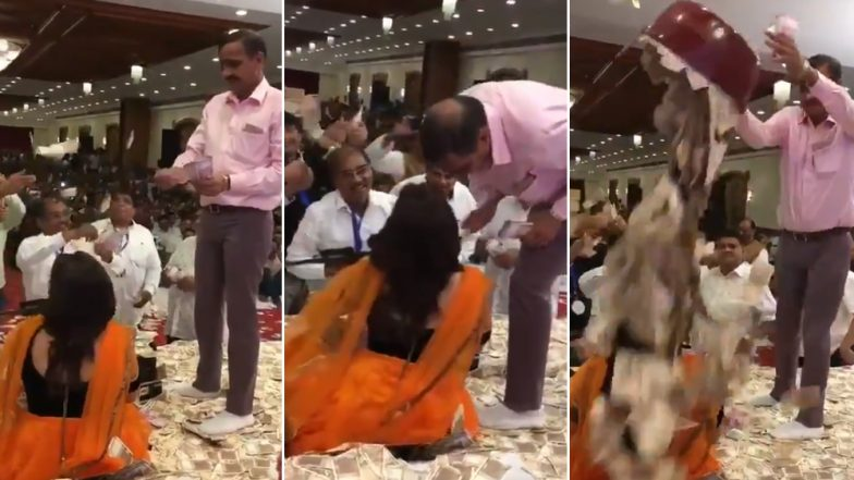 'Devotees' Shower Currency Notes on Bhajan Singer in Gujarat, Twitterati Compares The Act With Dance Bar! Watch Shocking Viral Video