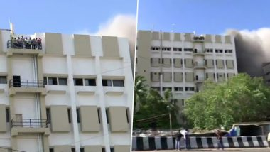 Mumbai: Fire Breaks Out at MTNL Building in Bandra-Kurla Complex; 60 Rescued
