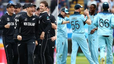 New Zealand vs England World Cup Head-to-Head: Ahead of ICC CWC 2019 Final Here's a Look Back at Previous NZ vs ENG WC Clashes