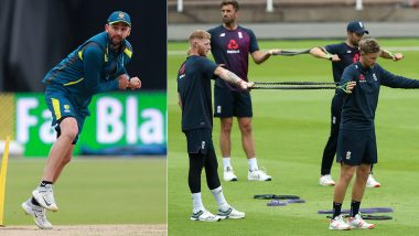 Steve Smith, Nathan Lyon, Ben Stokes and Eoin Morgan Toil Hard in Practice Session at Edgbaston Cricket Stadium Ahead of AUS vs ENG ICC CWC Semi-Final