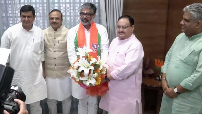 Neeraj Shekhar, Son of Former PM Chandra Shekhar, Joins BJP, Meets Working President JP Nadda