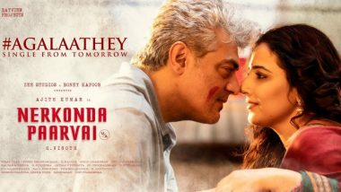 Nerkonda Paarvai Song Agalaathey: Ajith-Vidya Balan's 'Mesmerising Number' to Release Tomorrow, but Thala Fans Have Already Made It a HIT!