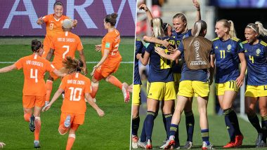 Netherlands vs Sweden, FIFA Women's World Cup 2019 Live Streaming: Get Telecast & Free Online Stream Details of NED vs SWE Semi-Final Football Match in India