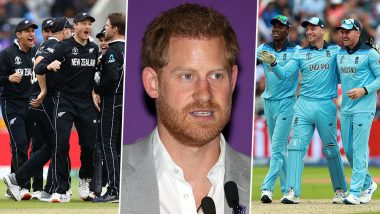 Prince Harry Thanks New Zealand and England Teams Ahead of Their ICC Cricket World Cup 2019 Final Clash