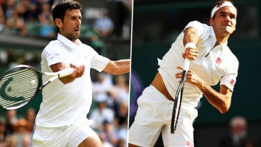 Novak Djokovic vs Roger Federer, Wimbledon 2019 Live Streaming & Match Time in IST: Get Telecast & Free Online Stream Details of Men's Singles Final Tennis Match in India