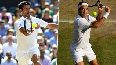 Novak Djokovic vs Roger Federer Head to Head Record: Ahead of Wimbledon 2019 Final Clash, Here're Previous 5 Match Results Featuring Tennis Rivals