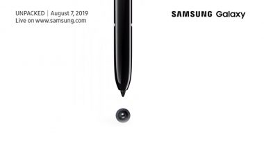 Samsung Galaxy Note 10 Launch Date Confirmed on August 7, 2019; Expected Price, Features & Specifications