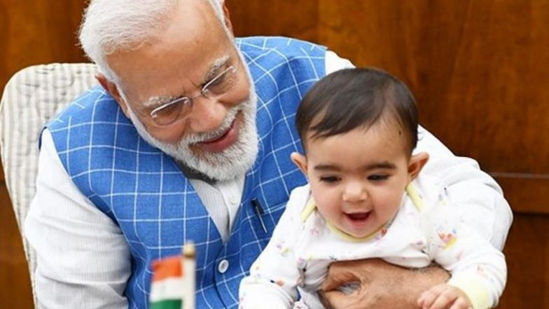 PM Narendra Modi Posts Pictures of Him Playing With 'Special Friend' in Parliament, Netizens Wonder Who's The Lucky Baby; Here's The Answer