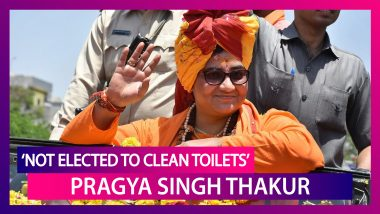 Not Elected to Clean Toilets, Drains: BJP MP Pragya Singh Thakur