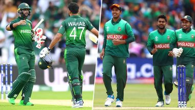 Ahead of Pakistan vs Bangladesh CWC 2019 Tie, Players of Both Teams Sweat Under The Sun at Lord's in London (View Pics)