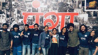 Panga: Ashwiny Iyer Tiwari Shares a Wrap-Up Picture With Her Team