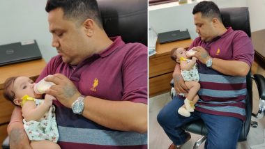 Heartwarming Photo of a Father Feeding His Baby Daughter Goes Viral, Kickstarts Discussion on Equal Role of Parents in Raising Children
