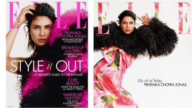 Priyanka Chopra Looks Fierce in Faux Fur and Floral on Elle UK Magazine Cover (View Pics)