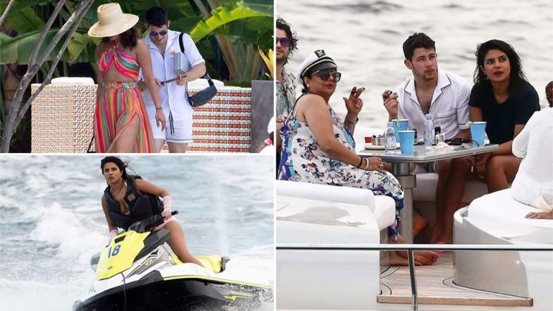 Priyanka Chopra Turns Into a Water Baby on Her Vacation To Miami With Nick Jonas and Family - View Pics