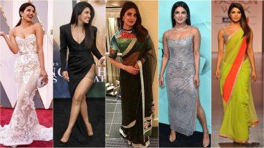 Priyanka Chopra Jonas Turns 37: Ralph Lauren, Manish Malhotra, Armani, Sabyasachi & Other Leading Fashion Designers Worn by The Desi Girl (View Pics)