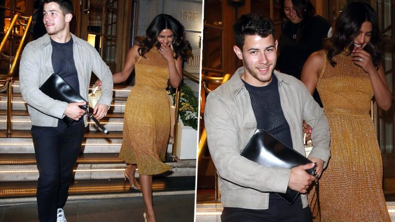 Priyanka Chopra and Nick Jonas Make a Stylish Appearance in London But Why Is Desi Girl Laughing Uncontrollably? View Pics