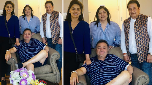 Singer Anup Jalota Meets Rishi Kapoor and Neetu Kapoor in New York