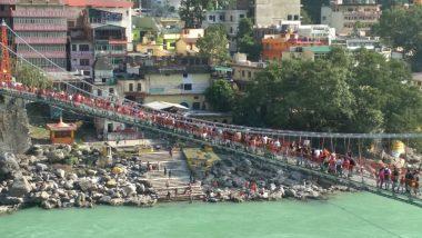 Rishikesh's Laxman Jhula Bridge on River Ganga Closed For Public