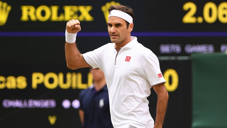 Roger Federer Outplays Rafael Nadal in Wimbledon 2019 Semi-Finals by 7-6 (3) 1-6 6-3 6-4; Netizens Hail the King of Grass (Watch Video)